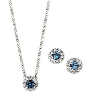 Givenchy Silver-Tone Round Stud Earrings & Necklace Set