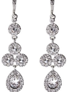 Givenchy Silver-Tone Accented Pear Drop Earrings