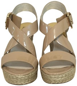 MICHAEL Michael Kors Patent Leather Nude Wedges
