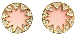 House of Harlow 1960 Sunburst Pink Leather/Pave Crystals