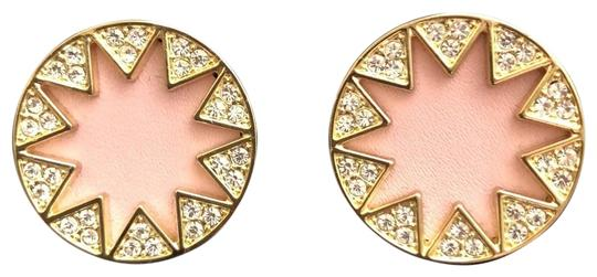Preload https://img-static.tradesy.com/item/23613301/house-of-harlow-1960-yellow-gold-pink-sunburst-leatherpave-crystals-earrings-0-4-540-540.jpg