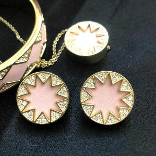 House of Harlow 1960 Sunburst Pink Leather/Pave Crystals Image 1