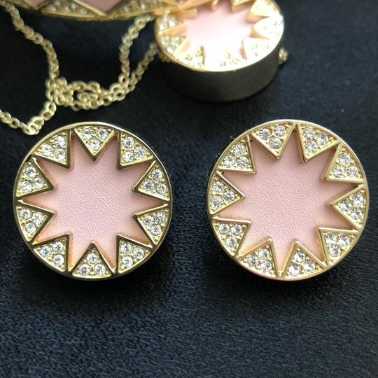 House of Harlow 1960 Sunburst Pink Leather/Pave Crystals Image 2