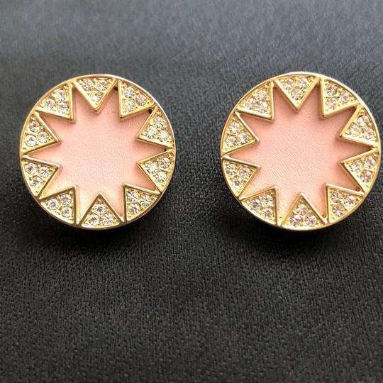 House of Harlow 1960 Sunburst Pink Leather/Pave Crystals Image 5