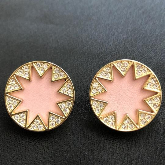 House of Harlow 1960 Sunburst Pink Leather/Pave Crystals Image 6
