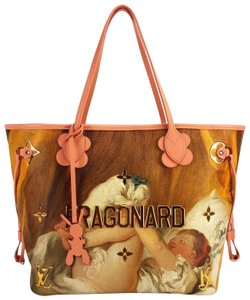 Louis Vuitton Masters Jeff Koons Fragonard Neverfull Tote in Multicolor