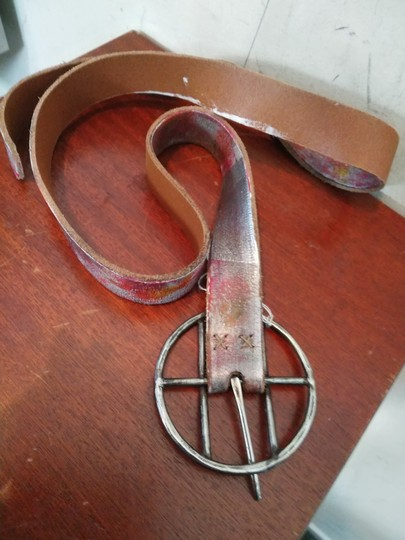 Other NWT $350 designer hand painted leather belt Image 1