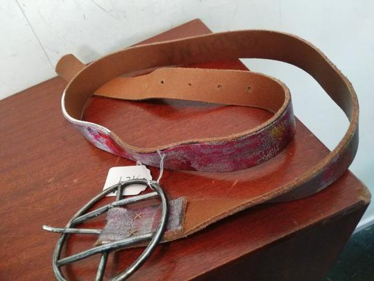 Other NWT $350 designer hand painted leather belt Image 2