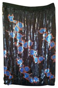 Cynthia Rowley Skirt Green Blue Orange Sequins