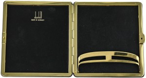 Alfred Dunhill Vintage Dunhill Black Leather and Brass Cigarette Holder Case