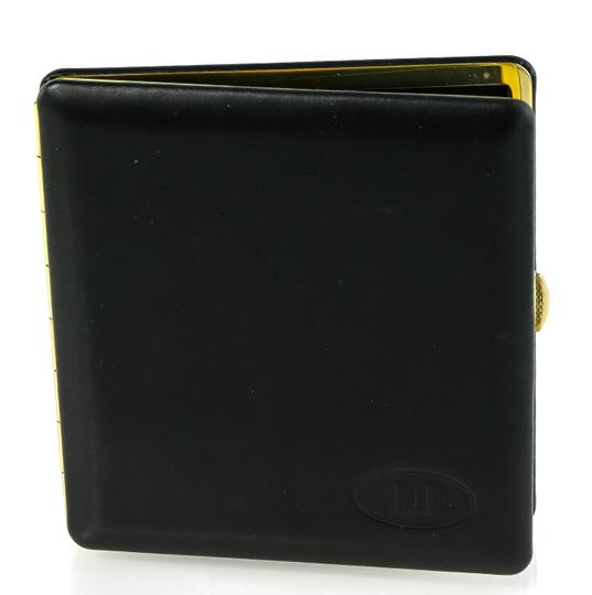 Alfred Dunhill Vintage Dunhill Black Leather and Brass Cigarette Holder Case Image 1