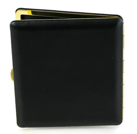 Alfred Dunhill Vintage Dunhill Black Leather and Brass Cigarette Holder Case Image 2