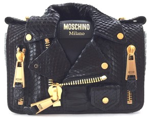Moschino Python Jacket Chain Cross Body Bag