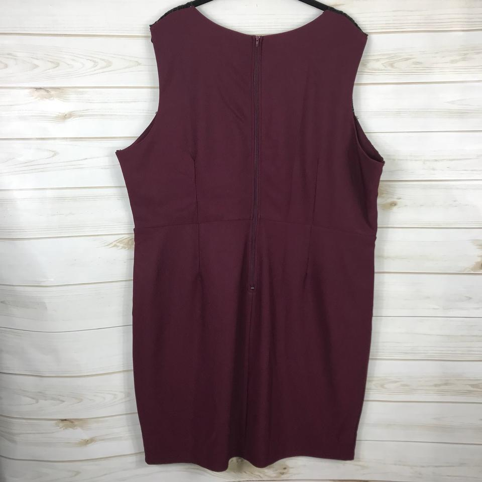331522834d Charlotte Russe Burgundy Black Lace Trim Bodycon Short Night Out ...