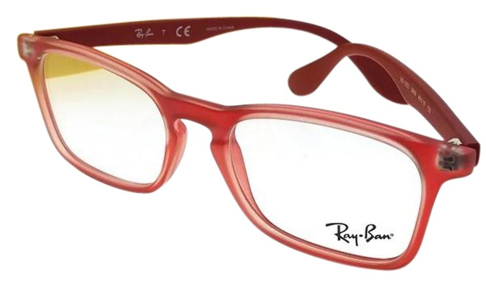 1d22816de3 Ray-Ban Junior RY1553-3669-46 Rectangular Kids Red Frame Clear lens  Eyeglasses ...
