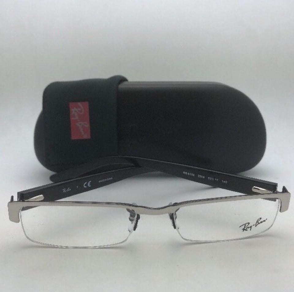 e336715baff Ray-Ban New Rx-able Rb 6182 2509 53-17 140 Black   Dark Silver Frame ...