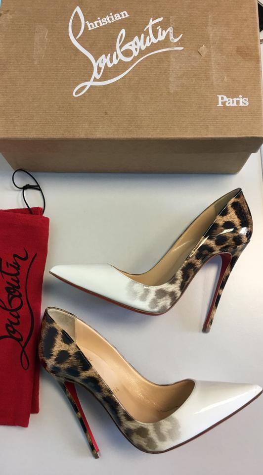 a83ae7751f00 Christian Louboutin So Kate Classic White Patent Leather Leopard Pumps  Image 9. 12345678910