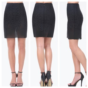 bebe Mini Skirt Black