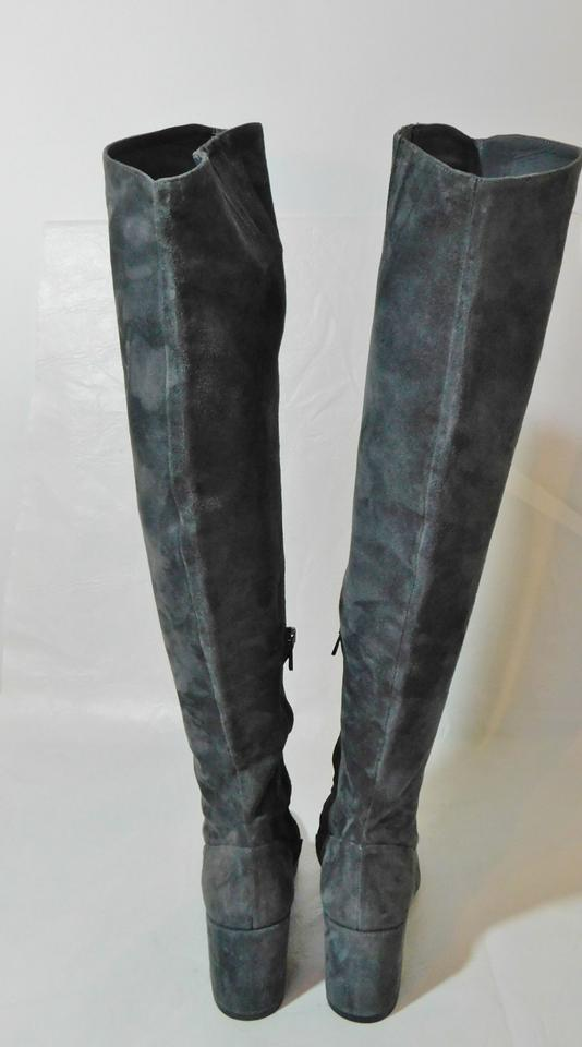 2456e3d728f Vince Gray Blythe Suede Over The Knee Boots Booties Size US 7 ...