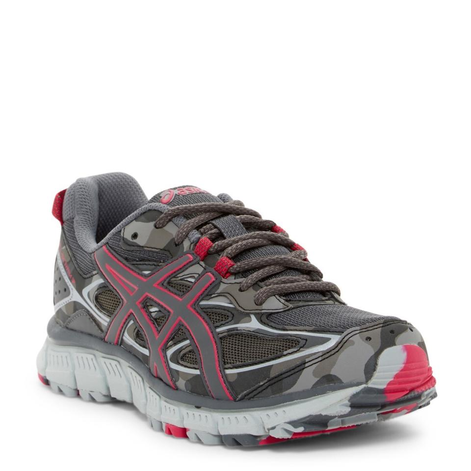 best website 2ffeb 005bb Asics Pink / Gray Womens Gel-scram 3 Camo Print Trail Running Sneakers Size  US 6 Regular (M, B)