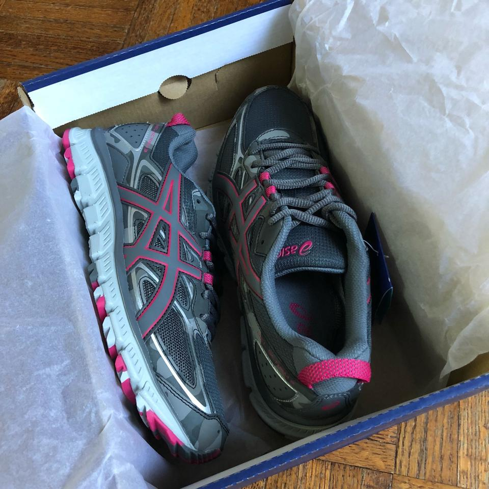 hot sale online 7ea62 49d70 Asics Pink/ Gray Gel-scram 3 Camo Print Trail Running Sneakers Size US 11.5  Regular (M, B)
