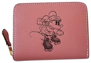 Coach Limited Edition COACH x Disney Mickey Minnie mouse leather zip wallet