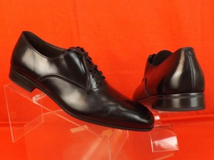 Salvatore Ferragamo Black Men's Dunn Polished Leather Lace Up Oxfords 10.5 D 43.5 Italy Shoes