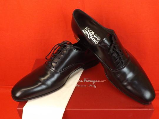 Salvatore Ferragamo Black Men's Dunn Polished Leather Lace Up Oxfords 10.5 D 43.5 Italy Shoes Image 3