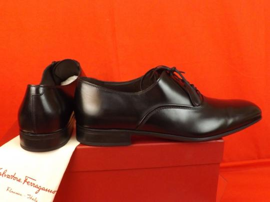 Salvatore Ferragamo Black Men's Dunn Polished Leather Lace Up Oxfords 10.5 D 43.5 Italy Shoes Image 7