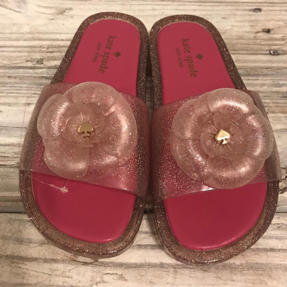 bcf85eb6d6f3 Kate Spade Clear Pink Sandals Flats. Size  US 6 Regular (M ...