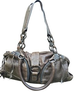 Andrew Marc Leather Purse Baguette Hobo Bag