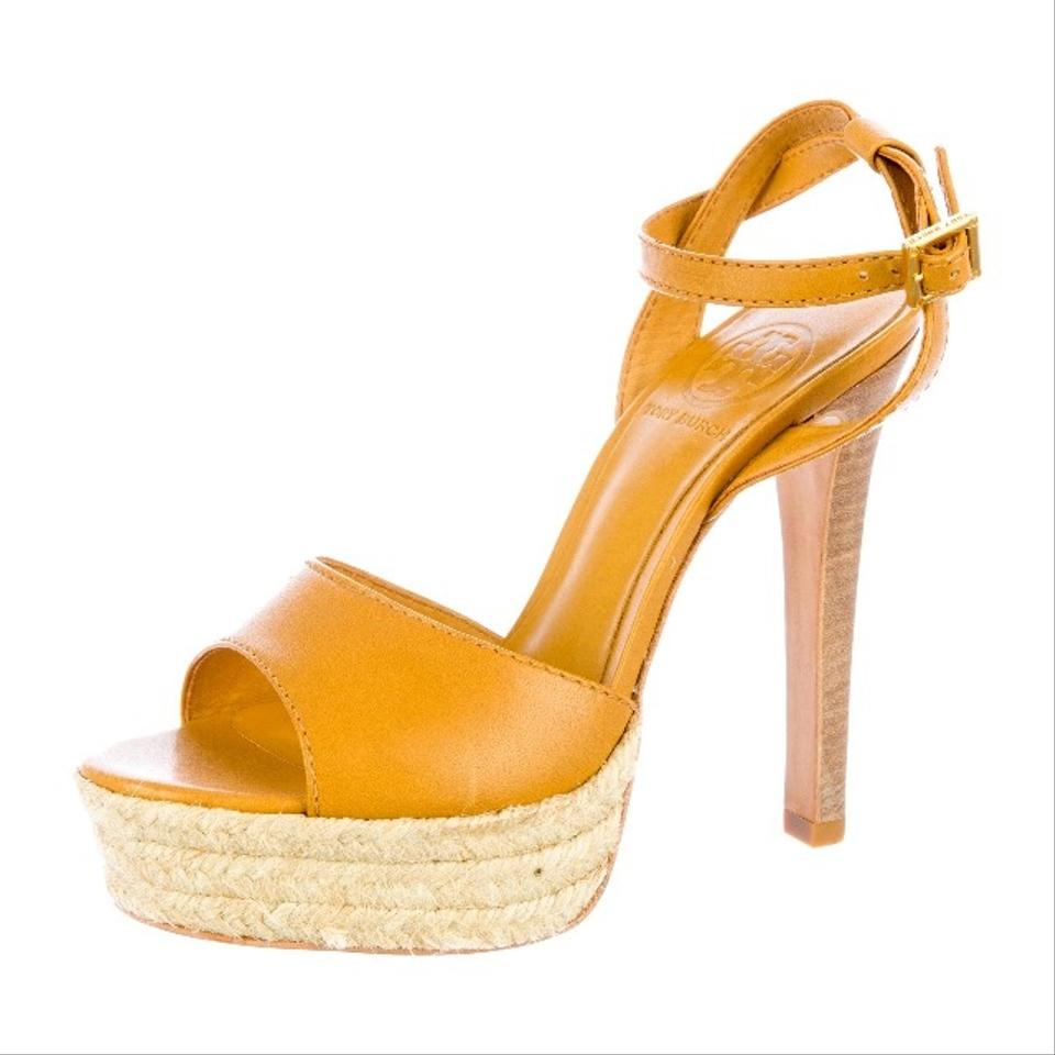 Tory Burch Caramel Caramel Burch Leather Platform Sandals f912f5