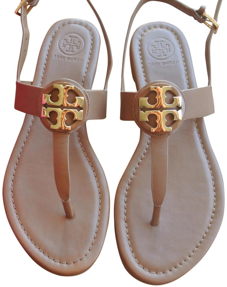 e9a61c86dfec Tory Burch Brown Royal Tan Gold Bryce Flat Sandals Size US 7.5 ...