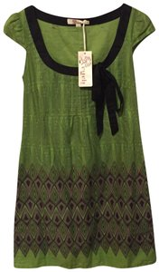 Aryeh short dress green brown black on Tradesy