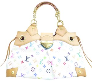 Louis Vuitton Lv Multicolore Canvas Ursula Satchel in white