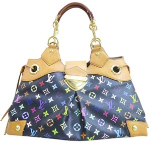 Louis Vuitton Lv Multicolore Canvas Ursula Satchel in black