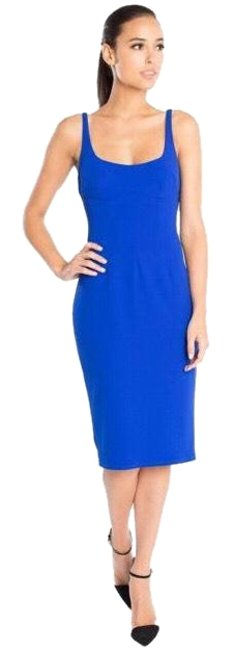 Item - New Cobalt Royal Blue Abs Scoopneck Bodycon Mid-length Cocktail Dress Size 8 (M)