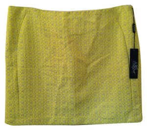 A.B.S. by Allen Schwartz Skirt Yellow Tan