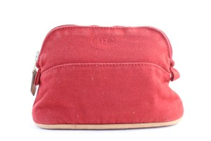 Hermès Pouch Trousse Make Up Cosmetic Toiletry Red Clutch