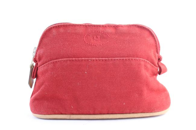 Item - Cosmetic Pouch Bolide 28hr0702 Red Cotton Clutch