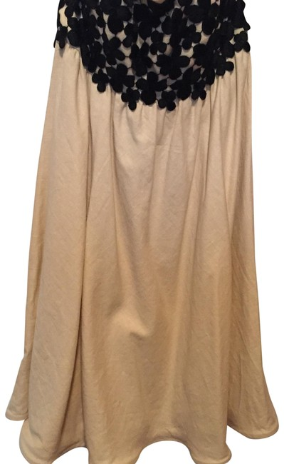 Item - Cream and Black Strapless Short Cocktail Dress Size 4 (S)
