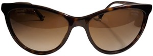 Chanel CHANEL Cat Eye Tortoise Pearl Chain Polarized Sunglasses 5341-H