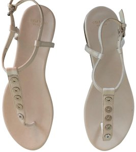 Kenneth Cole Stud White Sandals