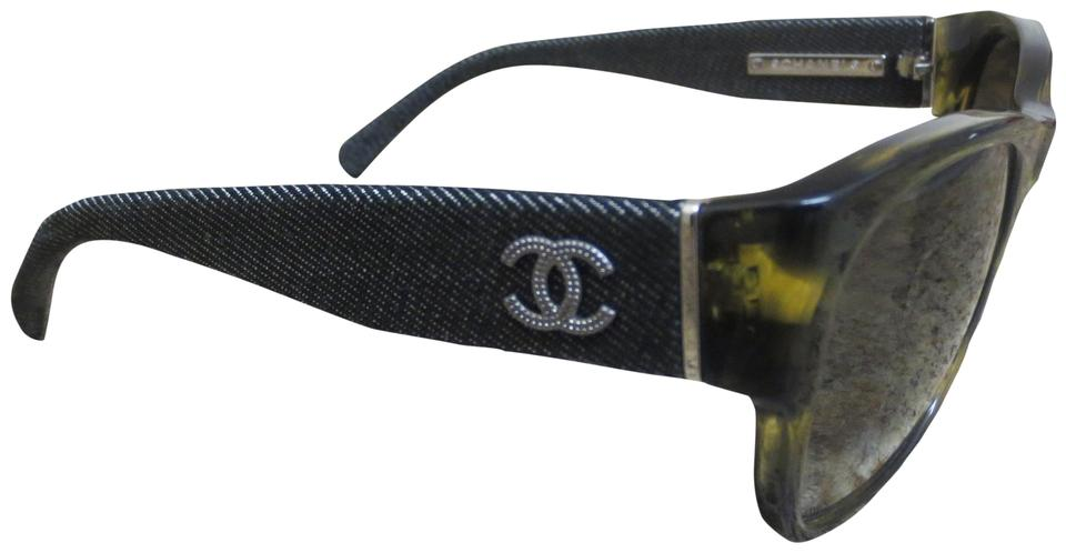 7550386cb4fa Chanel Havana and Denim Limited 5162 c.1174/3M and Cc Logo Sunglasses Image  ...