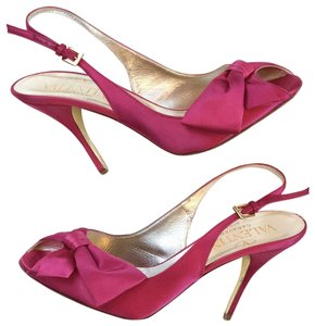 Valentino Bow Satin Formal Party Prom Hot Pink Pumps