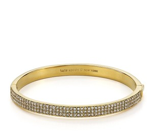 Kate Spade NWT KATE SPADE PAVE ROW BANGLE BRACELET GOLD TONE W DUST BAG