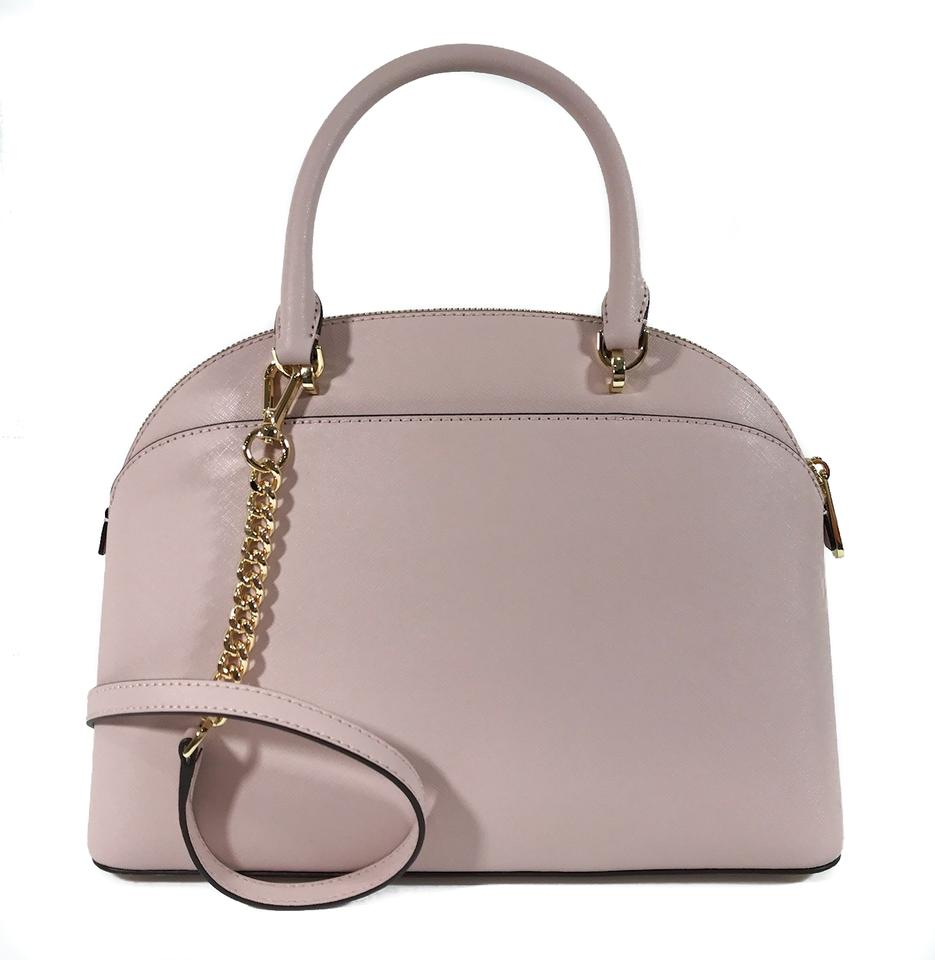 875cd4ed90 Michael Kors Emmy Large Dome Pink Leather Satchel - Tradesy