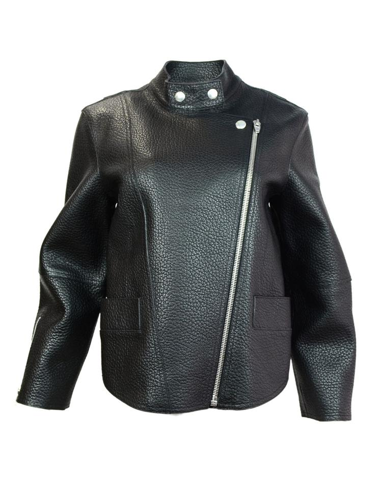Soft leather, tan, girls size Jacket is lined and zip. Comes with removable hood.