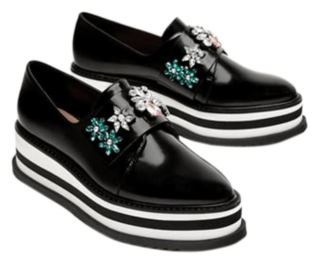 Item - Black Derby Oxfords with Beading New Platforms Size US 6.5 Narrow (Aa, N)