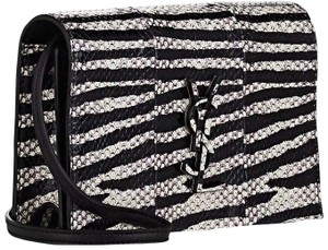 Saint Laurent Shoulder Monogram Logo Snakeskin Cross Body Bag